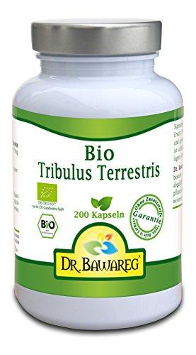 BIO Tribulus Terrestris - 200 Vegi-Kapseln - 400mg reines Pulver ohne Zusätze- Dr. Bawareg