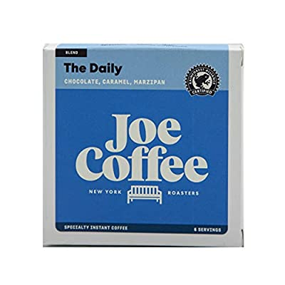 Joe Coffee Specialty Instant Coffee Packets, The Daily House Blend', 6 servings per box, Premium quality coffee for on-the-go/travel