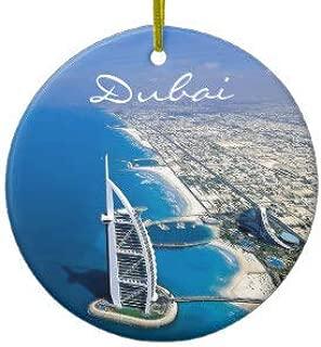 Dubai Burj Al Arab Travel Photo Ceramic Ornament