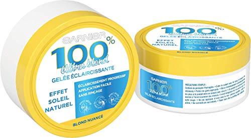 Garnier 100% Ultra Blond Gelée Éclaircissante Tie & Dye, 3 Applications Possibles, Effets Soleil, 150 ml