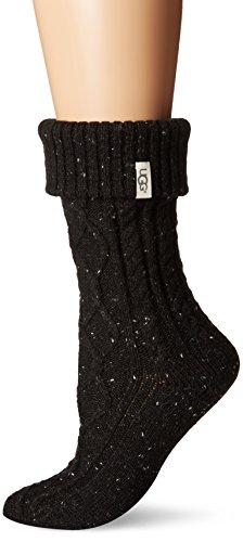 UGG Women's Sienna Short Rainboot Sock, Black, O/S