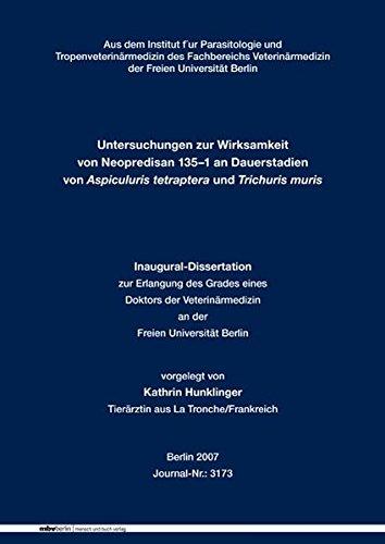 Untersuchungen zur Wirksamkeit von Neopredisan 135-1 an Dauerstadien von Aspiculuris tetraptera und Trichuris muris