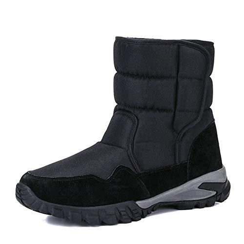 Herren Mid-Calf Winter Schneeschuhe Hohe wasserdichte, mit Isolierfell gefütterte warme Stiefel Anti-Rutsch-Outdoor-Langlebige Schuhe für Outdoor-Aktivitäten,43