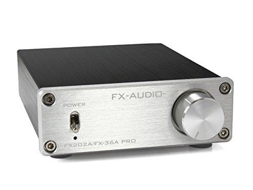 『FX-AUDIO- FX202A/FX-36A PRO『シルバー』TDA7492PEデジタルアンプIC搭載 ステレオパワーアンプ』の1枚目の画像