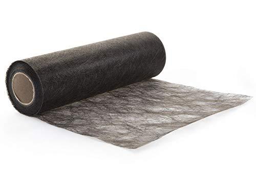 Protinam Sizoflor 30cm x 5m Tischläufer Tischband in Schwarz zur Dekoration wie Sommer, Ostern, Weihnachten oder Hochzeiten abgelängt (5m, 1101 schwarz)