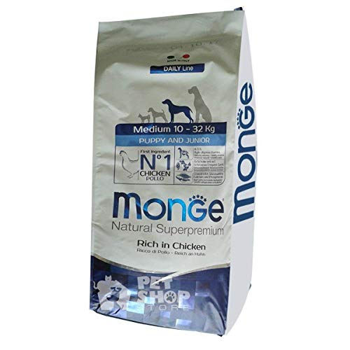 Monge Cane Puppy And Junior Medium 12 kg
