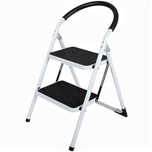 SAVICOS 2-Step Ladder Folding Step Stool Ladder with Handgrip and Anti-Slip Wide Platform Multi-Use for Household and Office 330lbs Capacity