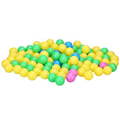 Yissone Kid Ocean Ball Colorful Ocean Ball para Bebés Niños Niños Secure Ocean Balls Baby Pits Swim Toys 100Pcs / Set