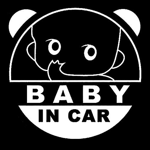 Autocollant De Voiture 11.2Cm * 11.2Cm Cool Baby on Board Baby in Car Inside Funny Car Sticker Decal Vinyl Black/Silver