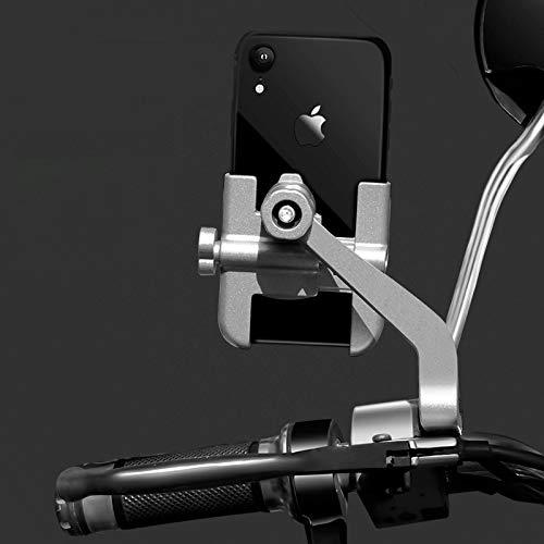 Soporte para Teléfono Soporte para Teléfono De Bicicleta para iPhone Samsung Soporte para Teléfono Móvil para Motocicleta para Xj600 KTM 640 Lc4 Suzuki Silver