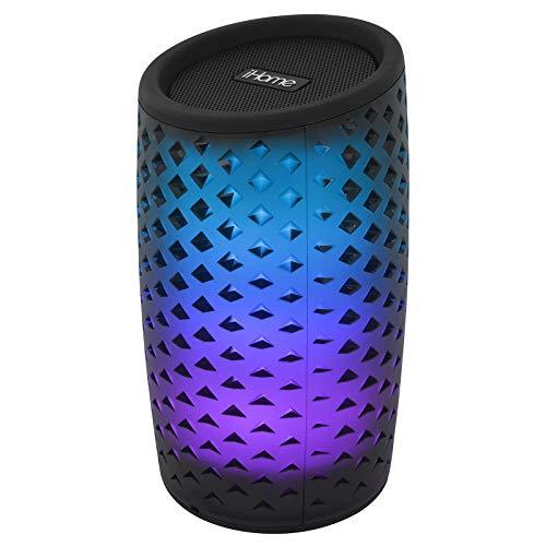 iHome Bluetooth-Lautsprecher, Farbwechsel, wiederaufladbar, mit Freisprecheinrichtung iBT78 Newest Model schwarz