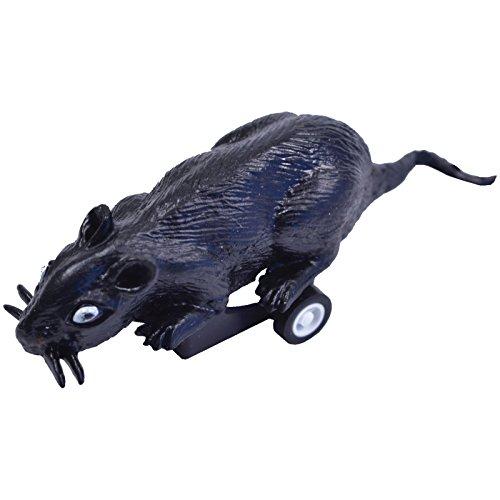 Spassprofi Laufende Maus mit Rückzug Scherzartikel Partygag Mäuse Tiere Nager aufziehbar läuft