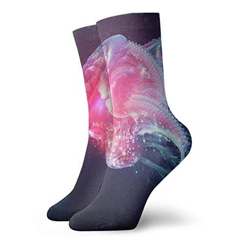 Drempad Luxury Sportsocken Unisex Tube Socks Crew Jellyfish Over Calf Comfort Stockings For Sport Travel