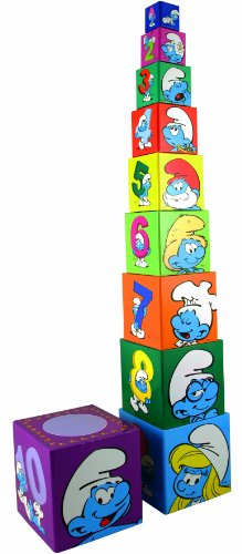 Los Pitufos - Cubos apilables (Barbo Toys 8400) (BASE TOYS)