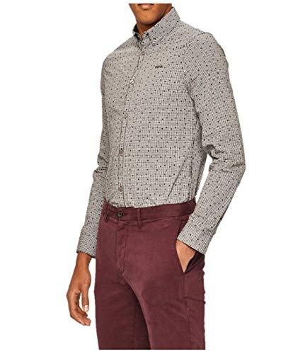 Guess Jeans M94h21 Jefferson - Camisa vaquera, color gris gris XXL