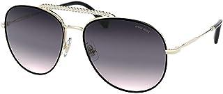 Miu Miu MU 53VS AAVGR0 Gold Metal Pilot Sunglasses Purple Mirror Lens