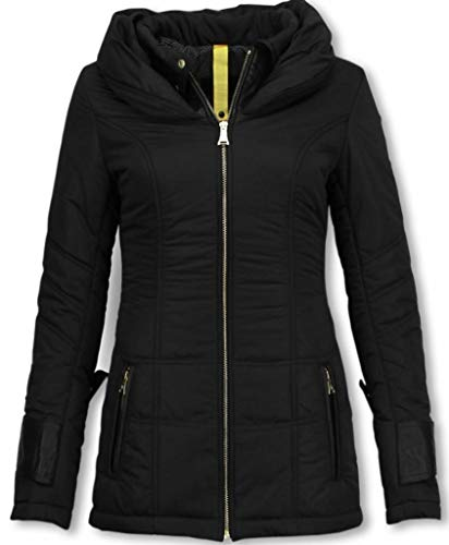 Dames Winterjas Halflang - Regular Slim - Zwart