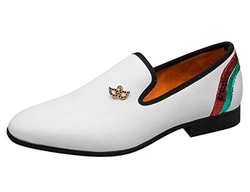 Zapatos Vestir Hombre Cuero Slip on Mocasines Comodo Plano Casual Boda Conducción...