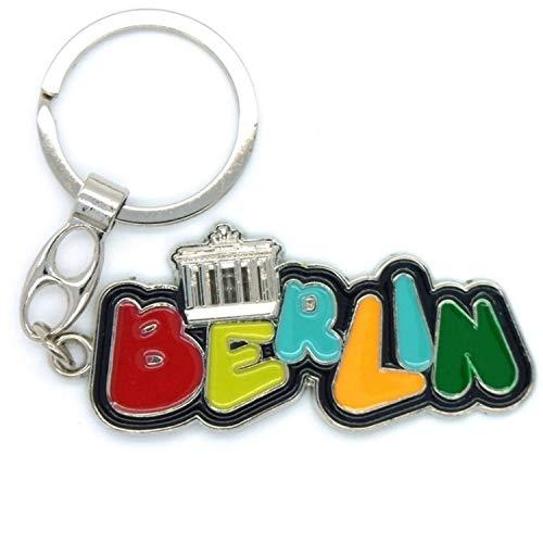 Schlüsselanhänger I Love Berlin Souvenir Schlüsselclip Deutschland Andenken Wortbild (101042)