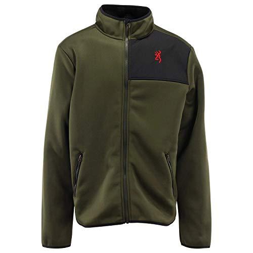 Browning Outerwear Buckmark Tintic Herren-Fleece-Jacke, Gr. S, Heather Black, Schwarz