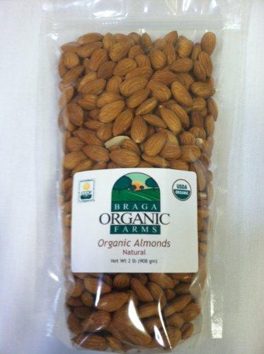 Braga Organic Farms Organic Natural Almonds 2 lb. bag