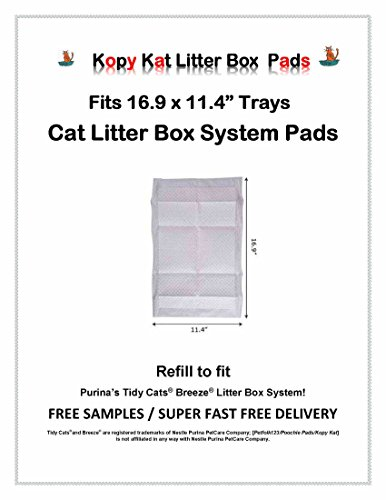 Kopy Kat 40ct Economical for Tidy Cat Breeze Litter Box Generic Replacement Pads Same Quality