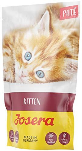 JOSERA Paté Kitten, getreidefreies Katzenfutter mit Huhn, Karotte und Lachsöl, Super Premium Nassfutter für wachsende Katzen, 16er Pack (16 x 85 g)