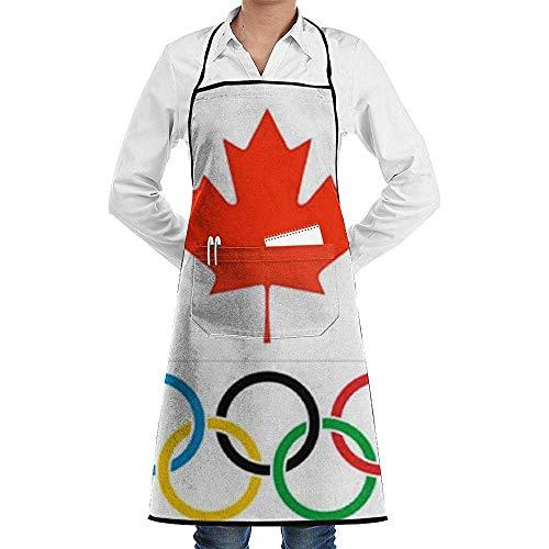 Darlene Ackerman(n) Kanada-Flaggen-Olympics-Logo-Schellfisch-Schutzblech mit Taschen Unisex und Männern