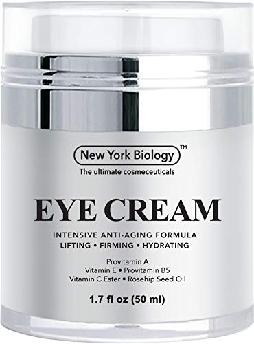 41C9 QobuIL - Eye Cream Moisturizer for Dark Circles, Fine Lines, Puffiness and Wrinkles Under the Eyes – Intensive Anti Aging Formula with Provitamin A and B5, Vitamin C and E – 1.7 fl oz (50ml)