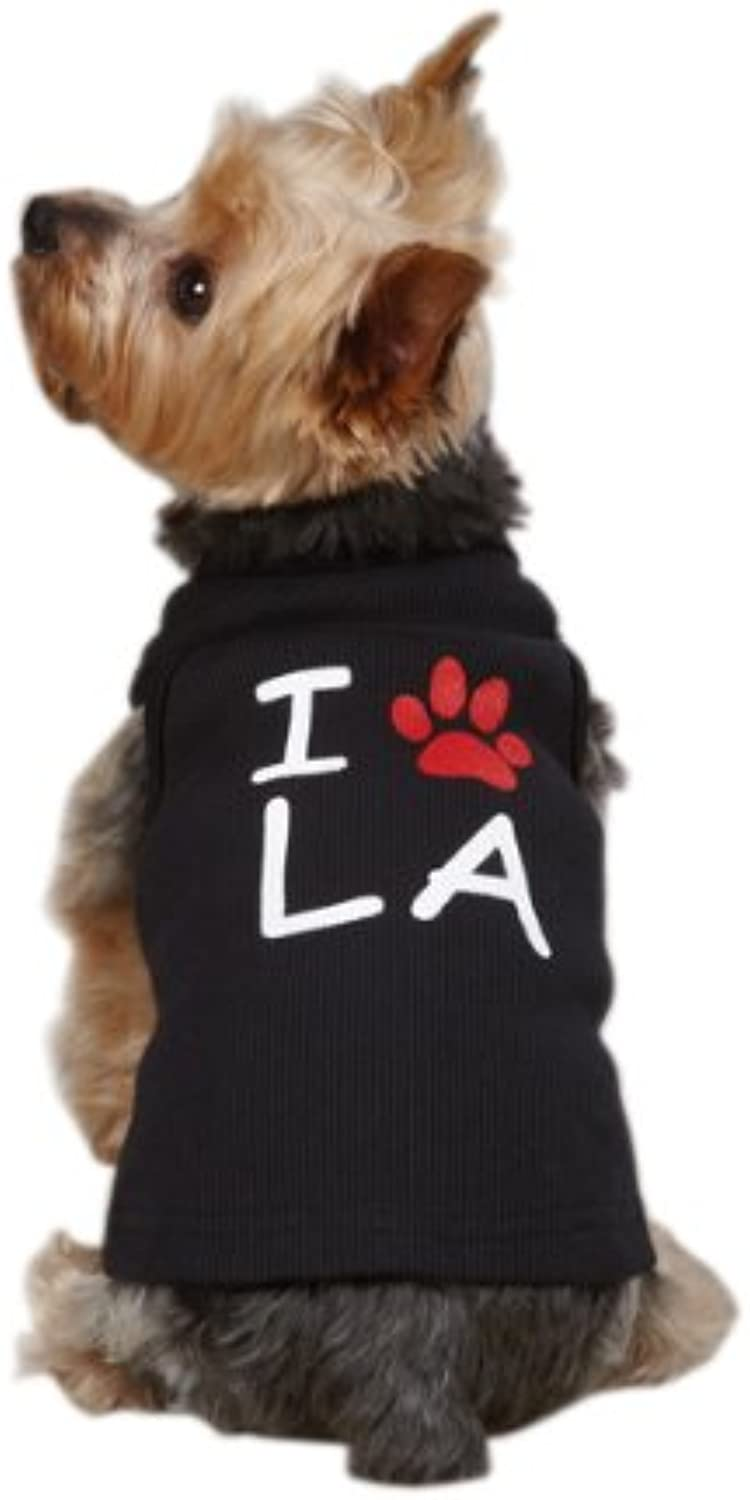 Casual Canine Cotton I Paw LA City Dog Tank, XSmall, 10Inch