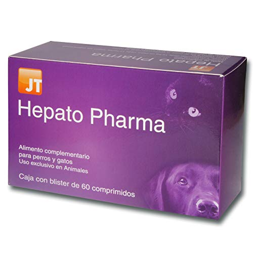 JTPharma Hepato Pharma - Alimento complementario para mascotas, 60 comprimidos