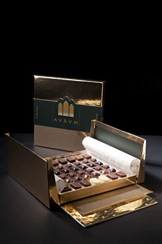 "Caja de Bombones de Chocolate Artesano Gourmet ""Aurum 48-1"" Sin Gluten"