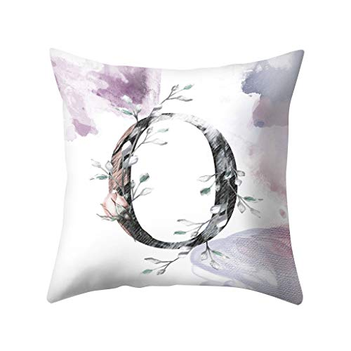 ELUP Floral Cushion Covers, Pair of Charcoal Retro Flower Design Cotton Cushion Covers, Piped Trim Cushion Cases, Sofa Chair Throw Pillow Cases
