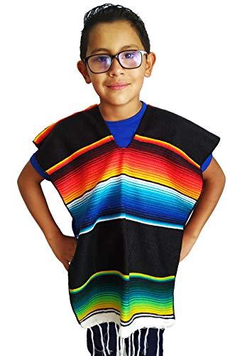 Yani's Gifts Child Mexican Poncho Kids, Serape Poncho Costume for Children