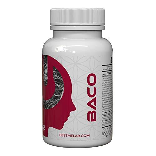 Bestme Baco Fórmula Antioxidante para la limpieza del higado. I Efectos Anti Resaca I Para Digestiones Pesadas. I Detox Hígado I Cardo Mariano I Alcachofa I Cisteina y mucho más I 60 Cápsulas