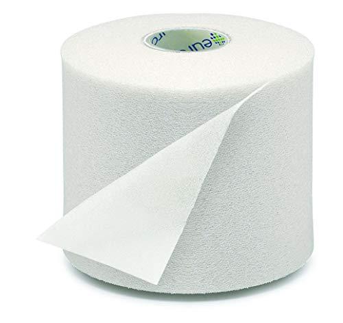 EUROSAVE- Prevendaje de Espuma de Poliuretano Blanco 27 m x 7 cm , Protector de piel en todas las técnicas de vendaje funcional y deportes de contacto