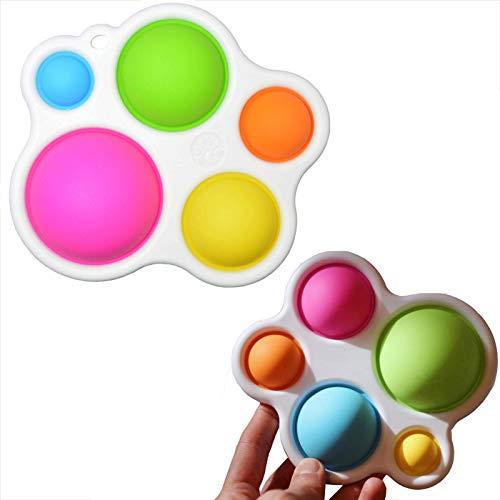 HYwot Baby Essentials Dimpl Juguetes Bebé Mejor Aprendizaje Aprendizaje Fat Toys Toys Baby Toys Regalos Edades 1~3 Años De Edad, Infantes Y Niños Pequeños, Tablero Entrenamiento Concentración,1pc