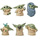 6Pcs/Set Baby Yoda Action Figure Toys 2-2.4 inch Mandalorian Yoda Baby Character Suit Star Wars Yoda Figuras Hot Cake Topper Party Decoration