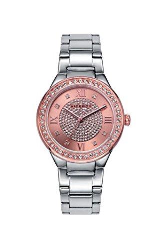 Viceroy Reloj Analogico para Mujer de Cuarzo con Correa en Acero Inoxidable 461018-93