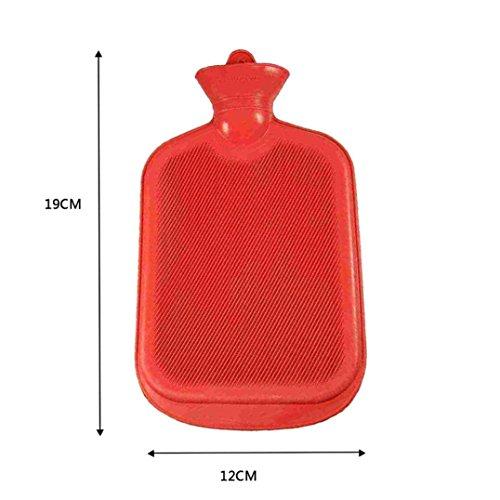 89LOOK-Bottles - Calentador de Botellas de Agua Caliente de Caucho Transparente, 500 ML, Varios Colores, Rojo
