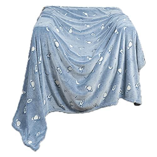 FJZFXKZL Mantas para Sofa Super Sofá Sofá Manta Brillante Manta Brillante Peluche Suave Luminosa Luminosa Franela Fleece Fleece Lanzar Manta Manta Al Aire Libre (Color : A)