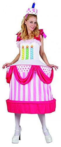 Déguisement gâteau danniversaire Femme Taille Unique (40)