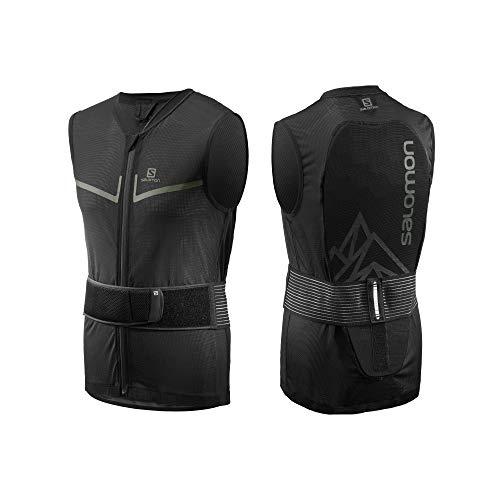 Salomon Herren Ski Rückenprotektor-Weste, Verstellbar, MotionFit, Atmungsaktiv, Flexcell Light Vest, Größe XL,Schwarz, L40863500