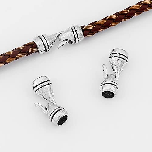 FC-07810 DIY-Jewelry 10sets End Cheap mail order shopping Cap Hook Clasp Lea for Round 5mm High material