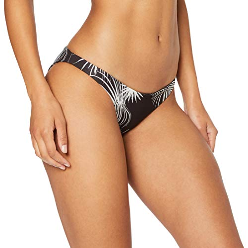 Hurley Damen W RVSB Floreetah Surf Bottom Bikini Hose, Black Palm, XS