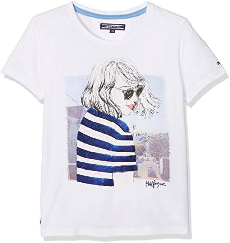 Tommy Hilfiger M/ädchen AME Tommy Heart Tee L//S T-Shirt