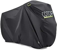 COTOP Funda para Bicicleta, 210T Cubierta Impermeable para Bicicleta Protección UV Anti Polvo Lluvia con Orificios de...