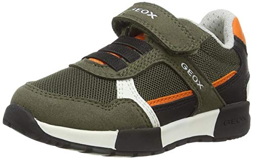 Geox Baby-Jungen J ALFIER Boy A Sneaker, Military/ORANGE, 25 EU