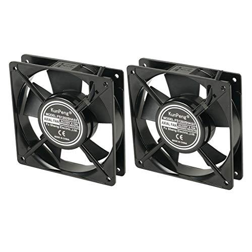 joyMerit Juego de 2 Ventiladores de Refrigeración para PC, 220 V, 120x120x25 Mm / 4.72x4.72x0.98 Pulgadas