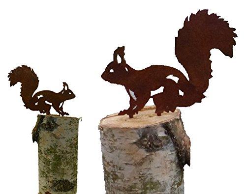 Eichhörnchen (2er Set, Edelrost)